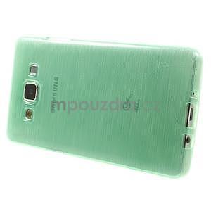 Brúsený gélový obal Samsung Galaxy A5 - cyan - 3