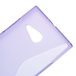 Gélový s-line obal na Nokia Lumia 730 a Lumia 735 - fialový - 3