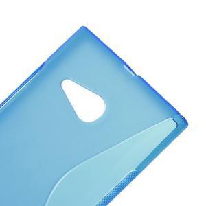 Gélový s-line obal na Nokia Lumia 730 a Lumia 735 - modrý - 3