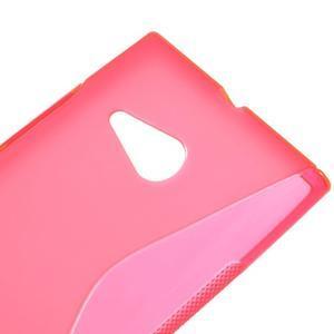 Gélový s-line obal pre Nokia Lumia 730 a Lumia 735 - ružový - 3