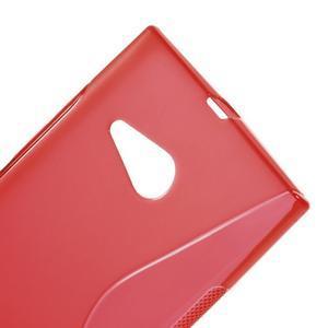 Gélový s-line obal na Nokia Lumia 730 a Lumia 735 - červený - 3