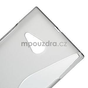 Gélový s-line obal pre Nokia Lumia 730 a Lumia 735 - sivý - 3