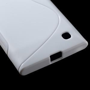 Gélový s-line obal na Nokia Lumia 730 a Lumia 735 - biely - 3