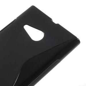 Gélový s-line obal na Nokia Lumia 730 a Lumia 735 - čierny - 3