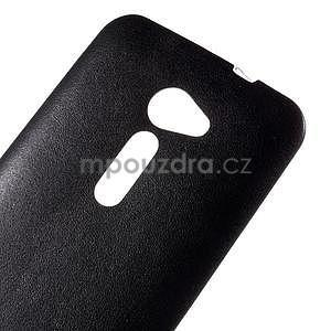 Gélový kryt s imitáciou kože Asus Zenfone 2 ZE500CL - čierny - 3