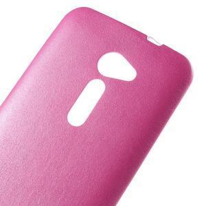 Gélový kryt s imitáciou kože Asus Zenfone 2 ZE500CL - rose - 3