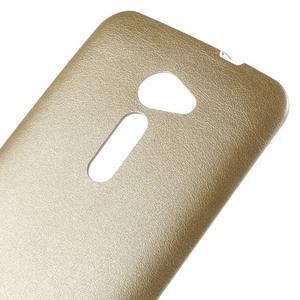Gélový kryt s imitáciou kože Asus Zenfone 2 ZE500CL - champagne - 3