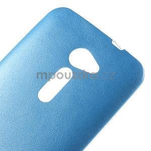 Gélový kryt s imitáciou kože Asus Zenfone 2 ZE500CL - modrý - 3