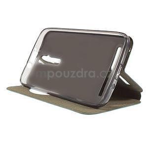 Modré klopové puzdro s okienkom na Asus Zenfone 2 ZE551ML - 3