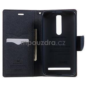 Zapínacie PU kožené puzdro na Asus Zenfone 2 ZE551ML - červené - 3