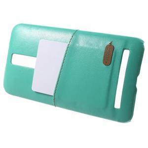 Azúrový PU kožený/plastový kryt na Asus Zenfone 2 ZE551ML - 3