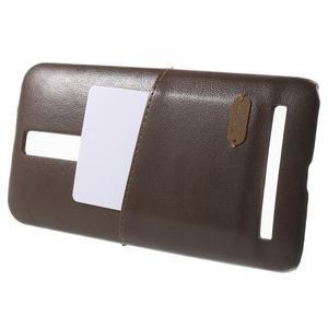 Hnedý PU kožený/plastový kryt pre Asus Zenfone 2 ZE551ML - 3