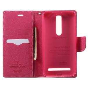 Zapínacie PU kožené puzdro na Asus Zenfone 2 ZE551ML - ružové - 3