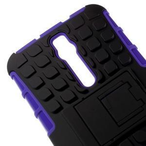 Vysoko odolný gélový kryt so stojanom pre Asus Zenefone 2 ZE551ML - fialový - 3