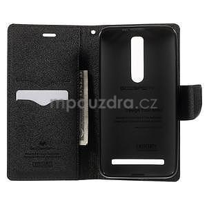Zapínacie PU kožené puzdro na Asus Zenfone 2 ZE551ML - čierne - 3