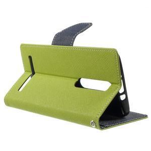Zapínacie PU kožené puzdro na Asus Zenfone 2 ZE551ML - zelené - 3