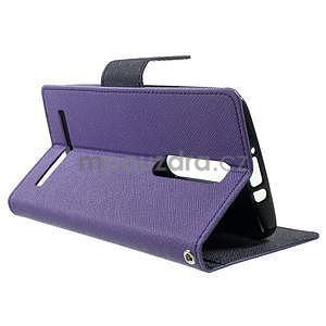 Zapínacie PU kožené puzdro na Asus Zenfone 2 ZE551ML -  fialové - 3