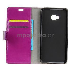 Crazy PU kožené puzdro na mobil Asus Zenfone 4 Selfie Pro ZD552KL - fialové - 3