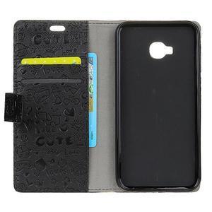 Cartoo knižkové puzdro na Asus Zenfone 4 Selfie Pro ZD552KL - čierne - 3