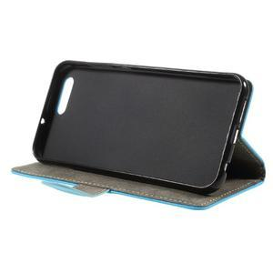 Knižkové PU kožené puzdro na Asus Zenfone 4 ZE554KL - modré - 3