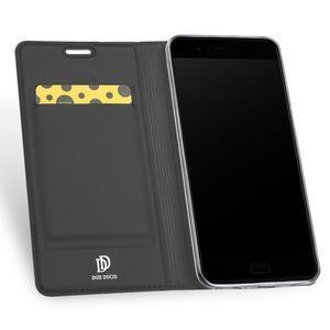 DUX luxury PU kožené klopové puzdro na Asus Zenfone 4 ZE554KL - antracitové - 3