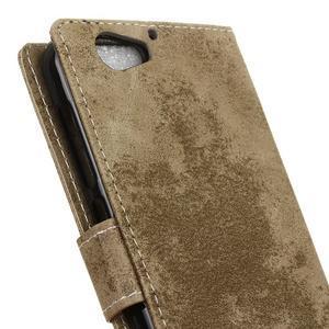 Vintage PU kožené puzdro pre HTC One A9s - jungle - 3