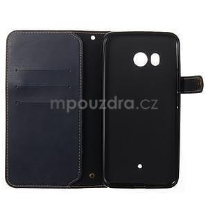 RetroStyle PU kožené puzdro na HTC U11 - modré - 3