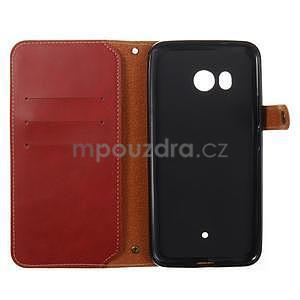 RetroStyle PU kožené puzdro na HTC U11 - červené - 3