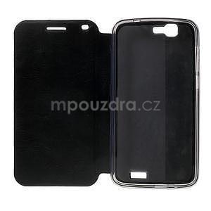 Klopové puzdro na Huawei Ascend G7 - čierne - 3