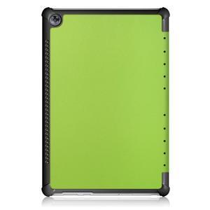 Trifold PU kožené polohovateľné puzdro na Huawei MediaPad M5 10 - zelené - 3