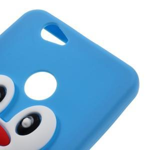 Tučňák silikonový obal na mobil Huawei Nova - modrý - 3