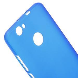 Matný gelový obal na Huawei Nova - modrý - 3