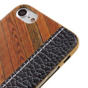 Emotive gélový obal pre iPhone 7 a iPhone 8 - farebné drevo - 3