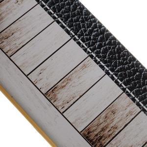 Emotive gélový obal pre iPhone 7 a iPhone 8 - biele drevo - 3