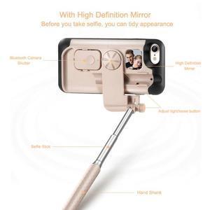 Selfie 2v1 obal pre mobil pro iPhone 7 a iPhone 8 s funkcí bluetooth - rose - 3