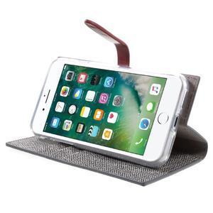 Fashions textilné peňaženkové puzdro pre iPhone 7 a iPhone 8 - sivé - 3