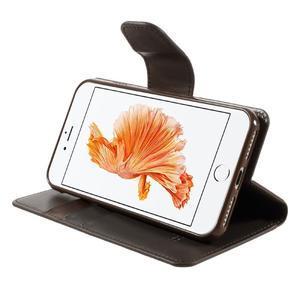 Sonata PU kožené puzdro pre mobil iPhone 8 a iPhone 7 - tmavehnedé - 3
