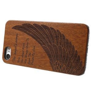 Woody drevený obal s plastovým držaním na iPhone 8 a iPhone 7 - anjelské kridlo - 3