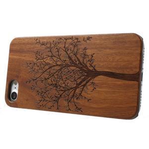 Woody drevený obal s plastovým držaním na iPhone 8 a iPhone 7 - strom - 3