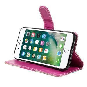 Fashion PU kožené puzdro pre iPhone 8 a iPhone 7 - rose - 3