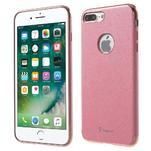 Luxy gélový obal se zlatým lemom na mobil iPhone 8 Plus a iPhone 7 Plus - rose - 3/3