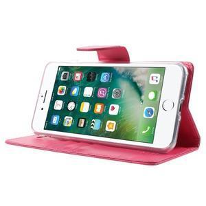 DiaryBravo PU kožené puzdro pre mobil iPhone 7 Plus a iPhone 8 Plus - rose - 3