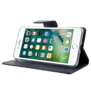 DiaryBravo PU kožené puzdro pre mobil iPhone 7 Plus a iPhone 8 Plus - tmavomodré - 3