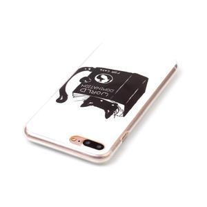 Imope gélový obal pre mobil iPhone 8 Plus a iPhone 7 Plus - mačička čte - 3