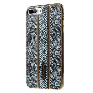 FashionStyle gélový obal s PU koženými chrbtom na iPhone 8 Plus a iPhone 7 Plus - hadie kože - 3