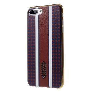 FashionStyle gélový obal s PU koženými chrbtom na iPhone 8 Plus a iPhone 7 Plus - variace - 3
