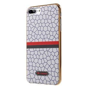FashionStyle gélový obal s PU koženými chrbtom na iPhone 8 Plus a iPhone 7 Plus - mozaika - 3