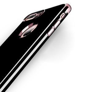 BlackDiamond gélový obal so ružovozlatým lemom na mobil iPhone 7 Plus a iPhone 8 Plus - 3