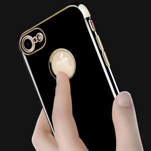 BlackDiamond gélový obal so zlatým lemom na mobil iPhone 7 Plus a iPhone 8 Plus - 3