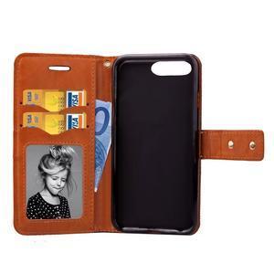 TexaCloth PU kožené/textilné puzdro pre iPhone 7 Plus a iPhone 8 Plus - modré - 3